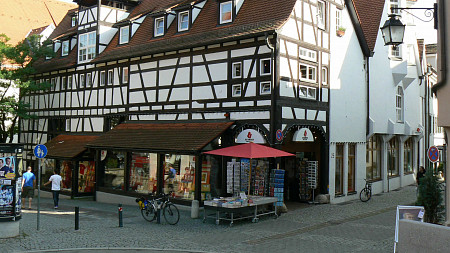 Osiandersche Buchhandlung in der Metzgergasse | Romane Tübingen
