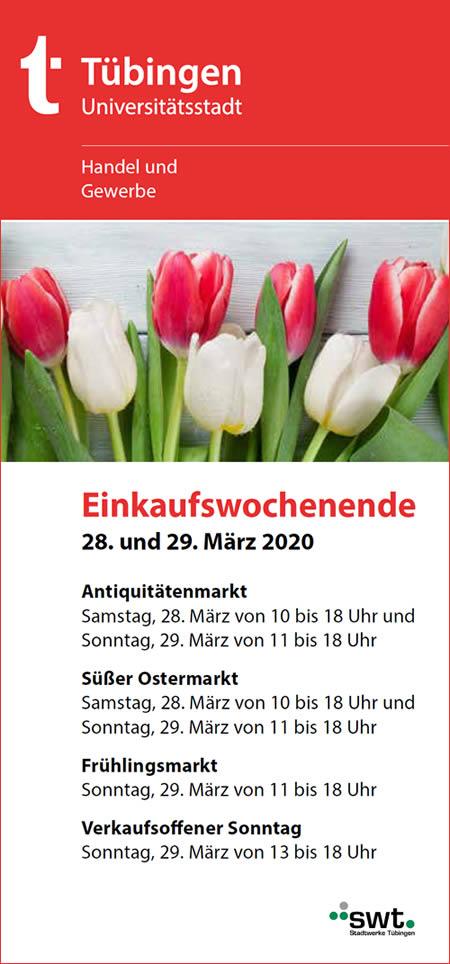 Frühlingsmarkt Tübingen 2018